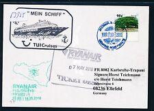 63925) Irland Ryanair FF Karlsruhe - Trapani Italien 5/2010, card Antigua