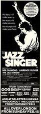 31/1/81PGN23 ADVERT: EMI FILMS PRESENTS NEIL DIAMOND THE JAZZ SINGER 15X5