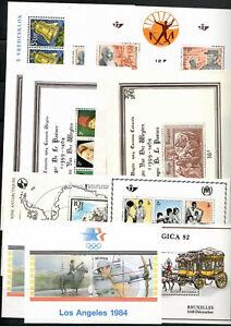 Belgien : -40- Blocks aus 1963-85** -3-Scans-