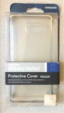 New OEM Samsung Protective Cover Case for Samsung Galaxy Note 5 - Clear Silver !