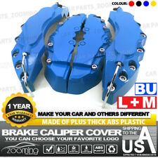 4x Brake Caliper Covers Universal Car Style Disc Blue Front Rear Kits L+M LW04