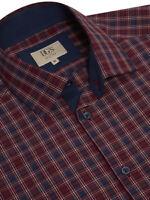 DG's DRIFTER - Size 3XL COTTON BLEND DARK RED SINGLE CUFF SHIRT RRP £40 15540/67