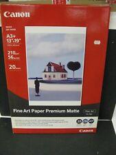 """Canon Photo Paper Fine Art  Matte """"13 x 19"""" 20 Sheets new old stock FA-PM1"""
