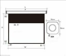 Electric 100 Diagonal 169 White Plastic Or Glass Curtain Projection Screen Y
