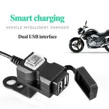 Dual USB 12V Motorcycle Handlebar Phone Power Charger Outlet Socket Waterproof