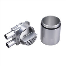 Billet Aluminium Double Baffled Close Loop Engine Oil Catch Can 19mm Barb Silver