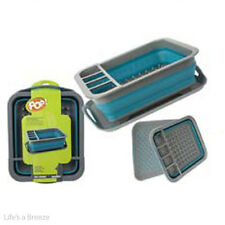 Dish Drainer RACK ACCESSORI PER ROULOTTE & CAMPER. POP Up Blu