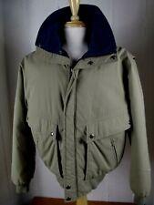 Field & Stream Mens LARGE Gordon Ferguson Khaki Zip Hunting Fishing Jacket Coat