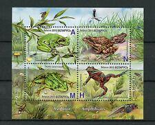 Belarus 2015 MNH Frogs Amphibians 4v M/S Stamps