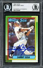 Sammy Sosa Autographed 1990 Topps Rookie Card #692 White Sox Beckett 12191453