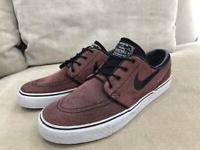 Like New Mens NIKE Red Leather Stefan Janoski Skateboarding Shoes US 10 [MS4]