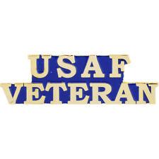 """Air Force Veteran Gold Lapel Pin Hat 1-1/2"""" USAF"""