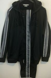 Nike Warm Up Suit Basketball Track Activewear Hood Large Black Men Pre-Owned