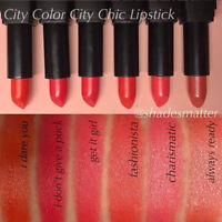 City Color City Chic Lipstick - Nude, Coral, Red Shades *B2G3F*