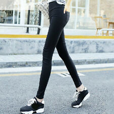 Women Fashion Korean Skinny Black&White Pencil Pants Bodycon Winter New Trousers