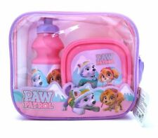 CHILDRENS KIDS PAW PATROL LUNCH BAG WITH BOTTLE & SANDWICH BOX SCHOOL DINNER SET