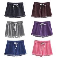 Women Summer Short Pants Gym Fitness Workout Waistband Skinny Yoga Sports Shorts