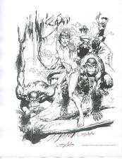 Neal Adams TARZAN 1978 NCS PORTFOLIO OF FINE COMIC ART hand signed LITHOGRAPH