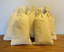 "5 CANVAS COIN BAGS MONEY CHANGE SACK BAG  9"" BY 17.5"" BANK DEPOSIT TRANSIT"