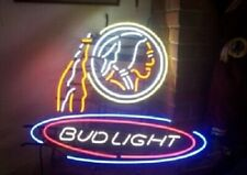 "New Washington Redskins Bud Light Beer Bar Neon Light Sign 24""x20"""