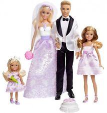 Set regalo di nozze di Barbie Stacie Chelsea Ken Doll Sposa Principessa Ragazze Giocattoli 3yrs+