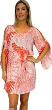 Sundrenched Australia Daydream Dress Swim Cover Orange Taro 2XL Cold Shoulder