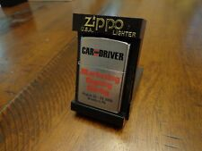 CAR AND DRIVER MARKETING DIGINITY DERBY BRADFORD PA ZIPPO LIGHTER MINT 2000