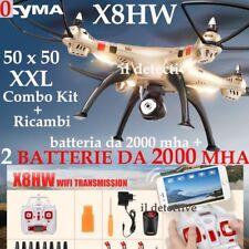 DRONE SYMA X8 HW REALTIME FPV WIFI BLOCCO ALTEZZA 3 BATTERIE RICAMBI