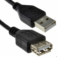 USB 2.0 High Speed Cable EXTENSION Lead A Plug to Socket BLACK 2m