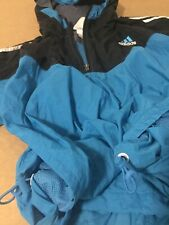 Adidas track jacket windbreaker hoodie 90s eqt turquoise equipment vtg