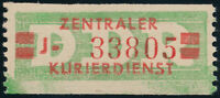 DDR-Dienst, B 31 a I J, Neubrand., tadellos postfrisch, gepr. Ruscher, Mi. 100,-