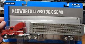 ERTL 12709 KENWORTH LIVESTOCK SEMI TRACTOR TRAILER 1/64 NIP LQQK