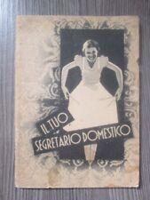 """Depliant brochure opuscolo pubblicitario  """" IL TUO SEGRETARIO DOMESTICO""""  PERSIL"""