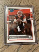 2020 Panini Donruss Optic Joe Burrow Rated Rookie Base Card