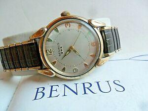 Vintage 1970's Men's Benrus 3 Star Automatic Self Winding Mechanical Watch Runs