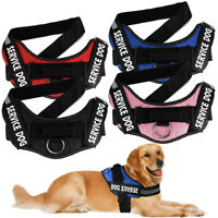 Dog Harness No Pull Soft Vest Padded Heavy Duty New K9 Service Patch & Pet Leash