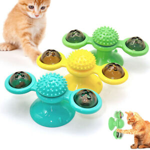 Interactive pet Dog Cat Toy Windmill Rotating Turntable Teasing Tickling Ball