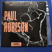 EP Paul Robeson Joshua Fit De Battle Of Jerico + 3 Coronet Label  KEP 232VGC