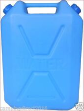 22Lt Water Jerry Can Army Blue Heavy Duty Plastic Camping Storage Container Food