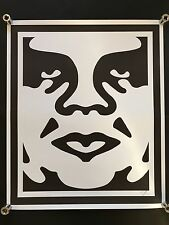 SHEPARD FAIREY Obey Giant Face 2 SIGNED RARE art large print hand signed