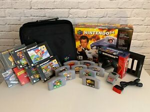 Nintendo N64 Console (EUR) 007 Edition Boxed - 9 Games, Controllers, Accessories