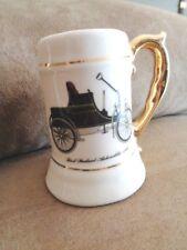 "Car mini mug 3"" Antique Classic First Packard Automobile 1899 gold pitcher stein"