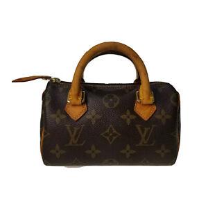 Louis Vuitton LV Monogram Mini Speedy M41534 Handbag Used 8-48-B16