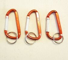 """3 NEW RED CARABINER SPRING CLIP KEYCHAINS BELT BACKPACK KEY RING CHAIN 3"""" SIZE"""