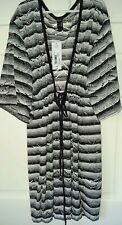 a.n.a Swimsuit Cover-Up Dress black and white Size S New Msrp $42.00