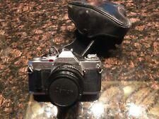 CANON AV-1 35 mm SLR  PROMASTER MC 50mm  1:1.8 lens GREAT SHAPE w/ case, lense c
