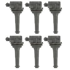Set of 6 Delphi Direct Ignition Coils for Volvo S80 99-05 XC90 03-05 2.8 2.9L L6