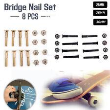 16Pcs Skateboard Longboard 25/28/30mm Bridge Nail Screws Bolt Nut SetAccessory