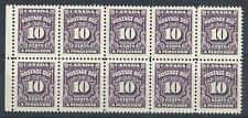 Canada 1935 Sc# J20 Postage due block 10 MNH