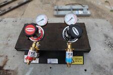 Harris 2 way oxy acetylene gas  Regulator manifold cut weld heat CIGWELD